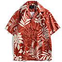 זול בגדי ריצה-קולור בלוק / 3D חולצה - בגדי ריקוד גברים דפוס חאקי