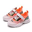 זול נעלי ילדים אתלטי-בנות נוחות רשת / מיקרופייבר נעלי אתלטיקה ילדים קטנים (4-7) / ילדים גדולים (7 שנים +) ריצה / הליכה שחור / כתום / ורוד אביב / קיץ / גומי