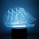 Χαμηλού Κόστους 3D φώτα τη νύχτα-1pc 3D Nightlight USB Δημιουργικό <=36 V