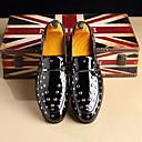 ราคาถูก รองเท้าแตะ & Loafersสำหรับผู้ชาย-สำหรับผู้ชาย สไตล์อินเดียนแดง หนังสิทธิบัตร ฤดูร้อนฤดูใบไม้ผลิ / ฤดูใบไม้ร่วง & ฤดูหนาว ธุรกิจ / อังกฤษ รองเท้าส้นเตี้ยทำมาจากหนังและรองเท้าสวมแบบไม่มีเชือก สีดำ / แดง / ฟ้า / พรรคและเย็น