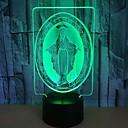 billige 3D Nattlamper-1pc 3D nattlys RGB Usb Fargeskiftende / Med USB-port <5 V