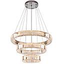 billige Ekspansjonskort-moderne speil rustfritt stål krystallbelysning 3 ringer førte anheng lys cristal dinning dekorative lysekroner hengende lampe 110-120v / 220-240v