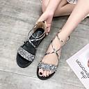 ราคาถูก รองเท้าแตะผู้หญิง-สำหรับผู้หญิง PU ฤดูร้อน ไม่เป็นทางการ รองเท้าแตะ ส้นแบน เปิดนิ้ว สีทอง / สีดำ / สีเงิน