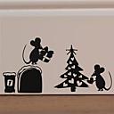 olcso Christmas Stickers-karácsonyi aranyos állati fal matricák - szavak& amp idézőjelek fali matricák karakter tanulószoba / iroda / étkező / konyha