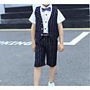 זול אקזוטי Dancewear-נייבי כהה כותנה חליפה לנושא הטבעת  - 1set כולל וסט / Pants / קשת