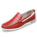 זול נעלי אוקספורד לגברים-בגדי ריקוד גברים נעלי עור עור אביב קיץ יום יומי נעליים ללא שרוכים נושם צהוב / אדום / כחול