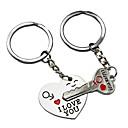 זול הד פיס למסיבות-מפתח גאווה מפתח הלב שלי חמוד זוג מחזיק מפתחות אהבה מפתח מחזיק מפתחות
