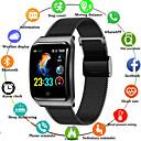 billige Smartklokker-f9 smartwatch rustfritt stål bt fitness tracker støtte varsle / blodtrykk måling sports smart klokke for samsung / apple / android telefoner