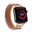זול אירגוניות לרכב-עבור רצועת השעונים Apple 44mm / 40mm / 38mm / 42mm נשים רצועת רצועת יהלום עבור אפל סדרת צפייה 4/3/2/1 iwatch צמיד נירוסטה ד שרשרת מילה