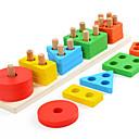 billige Høyttalere-Byggeklosser Shape Sorter Toy 1 pcs Kreativ kompatibel Legoing geometrisk mønster Foreldre-barninteraksjon Alle Leketøy Gave