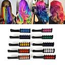 baratos Sombras-10 cores mini descartáveis uso pessoal do salão de cabeleireiro cabelo temporária pente profissional lápis de cor para a cor do cabelo ferramenta de tingimento de cabelo giz