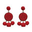 זול עגילים-בגדי ריקוד נשים עגילי טיפה עגילים תכשיטים אדום / כחול / ורוד עבור חתונה מתנה זוג 1