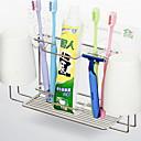 ราคาถูก ที่ใส่แปรงสีฟัน-ที่วางแปรงสีฟัน Creative / มัลติฟังก์ชั่น ร่วมสมัย อะลูมิเนียม 3 ชิ้น ติดผนัง