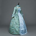 ราคาถูก เสื้อผ้าประวัติศาสตร์และวินเทจ-เจ้าหญิง Maria Antonietta สไตล์ลอรัล Rococo Victorian Renaissance หนึ่งชิ้น ชุดเดรส Party Costume Masquerade สำหรับผู้หญิง ลูกไม้ เครื่องแต่งกาย ฟ้า Vintage คอสเพลย์ คริสมาสต์ Halloween