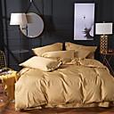 ราคาถูก ปลอกผ้าห่มสีเข้ม-ชุดผ้านวมคลุม สีพื้น ฝ้าย Yarn Dyed 4 ชิ้นBedding Sets