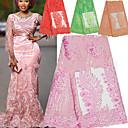ราคาถูก African Lace-ลูกไม้แอฟริกัน สไตล์พื้นบ้าน Pattern 130 cm ความกว้าง ผ้า สำหรับ โอกาสพิเศษ ขาย โดย 5Yard