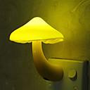 ราคาถูก สติกเกอร์ติดผนัง-1 ชิ้นเหลืองเห็ดไฟกลางคืน / ปลั๊กผนังสัปหงกสำหรับเด็กน่ารัก / ควบคุมแสง 100-240 โวลต์