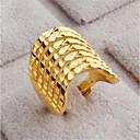 billiga Moderingar-Dam Öppna Ring 1st Guld 18 K guld fylld Geometrisk Stilig Gåva Dagligen Smycken geometriska Lycklig Vackert