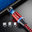 povoljno Zidni satovi-Caseme iphone / type-c / micro usb 2 u 1 magnetni punjač kabel telefon brzo punjenje led 1.0m (3ft) najlon opleten android za iphone / samsung / huawei / sony