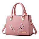 ราคาถูก กระเป๋า Totes-สำหรับผู้หญิง ซิป / ดอกไม้ PU กระเป๋าถือยอดนิยม การเย็บปักถักร้อย สีดำ / ไวน์ / ขาว / ฤดูใบไม้ร่วง & ฤดูหนาว