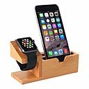 billige Puter-kompatibel med Apple Watch står USB-ladestativ Telefonstativ med 3 USB-ladestasjon Bamboo Wood Ladestasjon for 38mm og 42mm Apple Watch
