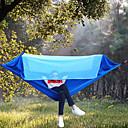 Χαμηλού Κόστους 3 Σταθεροποιητής άξονα με άξονα-Κούνια κάμπινγκ με κουνουπιέρα Εξωτερική Φορητό Αντιηλιακό Αναπνέει Ύφασμα από βαμβάκι Ίνα νάιλον με Carabiners και Strips Tree για 2 άτομα Κυνήγι Παραλία Κατασκήνωση Θαλασσί Πορτοκαλί Πράσινο