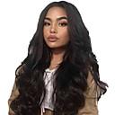 זול פיאות תחרה משיער אנושי-שיער אנושי חזית תחרה פאה חלק אמצעי בסגנון שיער פרואני Body Wave שחור פאה 130% צפיפות שיער נשים בגדי ריקוד נשים ארוך אחרים Clytie