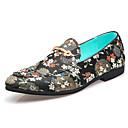 ราคาถูก รองเท้าแตะ & Loafersสำหรับผู้ชาย-สำหรับผู้ชาย รองเท้าอย่างเป็นทางการ หนังเทียม ตก / ฤดูร้อนฤดูใบไม้ผลิ ธุรกิจ / คลาสสิก รองเท้าส้นเตี้ยทำมาจากหนังและรองเท้าสวมแบบไม่มีเชือก ไม่ลื่นไถล สีดำ / สีน้ำตาล / ฟ้า / พรรคและเย็น