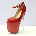 זול נעלי עקב לנשים-בגדי ריקוד נשים עקבים עקב סטילטו סינטטיים בריטי / מִעוּטָנוּת קיץ & אביב / קיץ לבן / אדום / חתונה / מסיבה וערב