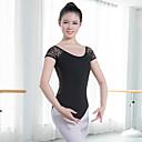 billige Ballettantrekk-Ballet Trikoter Dame Trening / Ytelse Bomullsblanding / Strekke Garn Kombinasjon Kortermet Trikot / Heldraktskostymer