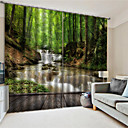 billige 3D gardiner-3d digital utskrift tilpasset polyester natur privatliv to paneler gardin for utendørs stue dekorative vanntette støv-bevis gardiner
