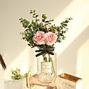 Χαμηλού Κόστους Βάζα & Καλάθι-Ψεύτικα λουλούδια 10 Κλαδί Κλασσικό Γάμος Λουλούδια Γάμου Τριαντάφυλλα Φυτά Λουλούδι για Τραπέζι