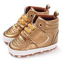 זול מגפיים לילדים-בנים / בנות צעדים ראשונים PU מגפיים תינוקות (0-9m) / פעוט (9m-4ys) זהב / לבן / שחור סתיו / חורף