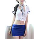 povoljno Seksi kostimi-Žene Peplum Sexy Seksi spavaćica / kineska haljina / Odijelo Noćno rublje Color block Obala L XL XXL / V izrez