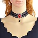 Χαμηλού Κόστους Οδηγοί Φλας USB-Γυναικεία τατουάζ σφικτό Γεωμετρική Μοναδικό Βίντατζ Γκόθικ Χρώμιο Λευκό Μαύρο Κόκκινο 30 cm Κολιέ Κοσμήματα 1pc Για Δώρο Δουλειά Φεστιβάλ