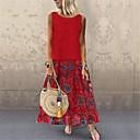 povoljno Etnički i kulturni kostime-ženska maxi tunika haljina posteljina crvena žuta plava m l xl xxl