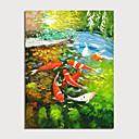 Χαμηλού Κόστους Πίνακες Τοπίων-Hang-ζωγραφισμένα ελαιογραφία Ζωγραφισμένα στο χέρι - Τοπίο Ζώα Μοντέρνα Χωρίς Εσωτερικό Πλαίσιο