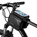billiga Väskor till cykelramen-ROCKBROS Mobilväska Väska till cykelramen 6 tum Pekskärm Reflekterande logotyp Vattentät Cykelsport för iPhone X iPhone XR iPhone XS Svart Mountain Bike Cykel / iPhone XS Max