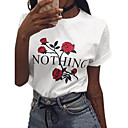 זול מגפי נשים-פרחוני טישרט - בגדי ריקוד נשים לבן