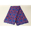 ราคาถูก Crafts&Sewing-ลูกไม้แอฟริกัน ลวดลายดอกไม้ Pattern 130 cm ความกว้าง ผ้า สำหรับ โอกาสพิเศษ ขาย โดย 5Yard