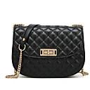 ราคาถูก กระเป๋าสะพายข้าง-สำหรับผู้หญิง PU Crossbody Bag สีทึบ สีดำ / สีน้ำตาล / ทับทิม / ฤดูใบไม้ร่วง & ฤดูหนาว