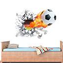 זול מדבקות קיר-מדבקות קיר דקורטיביות - מדבקות קיר תלת מימד כדורגל / 3D חדר ילדים
