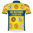 ราคาถูก กางเกงปีนเขาและกางเกงขาสั้น-21Grams แปลกใหม่ ตลก สำหรับผู้ชาย แขนสั้น Cycling Jersey - สีเหลือง จักรยาน เสื้อยืด Tops แห้งเร็ว Sweat-wicking กีฬา Terylene ขี่จักรยานปีนเขา Road Cycling เสื้อผ้าถัก / ผสมยางยืดไมโคร / Race Fit
