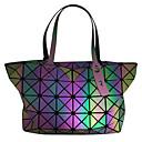 ราคาถูก กระเป๋า Totes-สำหรับผู้หญิง ซิป สังเคราะห์ กระเป๋าถือยอดนิยม เลขาคณิต สายรุ้ง / ฤดูใบไม้ร่วง & ฤดูหนาว