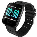 billige Smartklokker-st6 smart armbåndsur se hjertefrekvensmåler blodtrykk aktivitet fitness tracker armbånd smart band for iOS android
