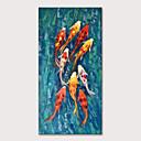 Χαμηλού Κόστους Ελαιογραφίες-Hang-ζωγραφισμένα ελαιογραφία Ζωγραφισμένα στο χέρι - Ζώα Ποπ Άρτ Μοντέρνα Περιλαμβάνει εσωτερικό πλαίσιο