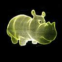 billige 3D Nattlamper-1pc 3D nattlys / Nursery Night Light RGB Usb Fargeskiftende / Med USB-port <5 V