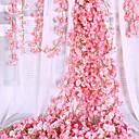 baratos Flores Artificiais & Vasos-Flores artificiais 1 Ramo Clássico Acesssórios de Palco Casamento Hortênsia Sakura Guirlandas & Flor de Parede