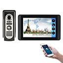Χαμηλού Κόστους Συστήματα Ενδοεποικινωνίας Θυροτηλεόρασης-618m11 7 ιντσών χωρητική οθόνη αφής βιντεοκάμερα ενσύρματο video doorbell wifi / 3g / 4g απομακρυσμένη κλήση ξεκλείδωμα αποθήκευσης οπτική ενδοεπικοινωνία ένα προς ένα