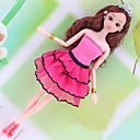 billige Dukketilbehør-Dukkekjole Til Barbie Leopard polyester Kjole Til Jentas Dukke